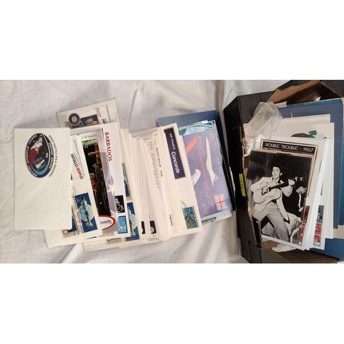 716 - A selection of Concorde souvenirs, US satellite covers etc...