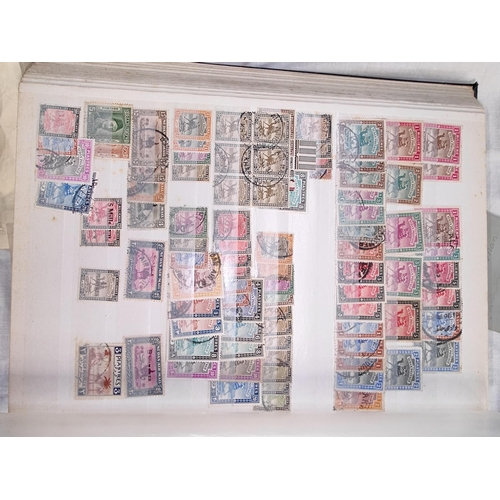 717 - A collection of British Commonwealth stamps in 3 stockbooks, to include GB & GVI high values to 10s...