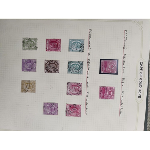 719 - CAPE OF GOOD HOPE - a group of triangulars to 1s; a collection of stamps of South Africa including e...