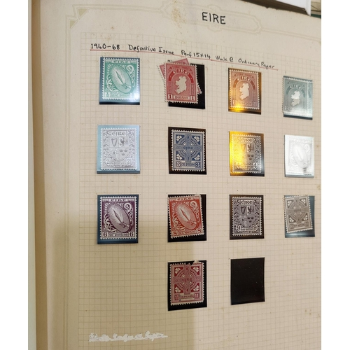 720 - EIRE - a collection of stamps in 2 albums; FRANCE a collection of stamps in 2 albums...