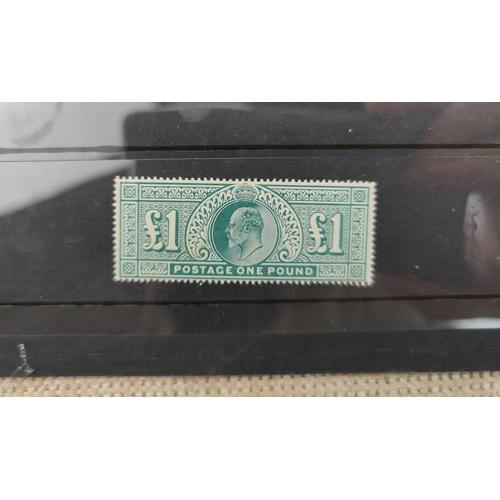 738 - GB - EVII 1902 £1 (mint mounted)...