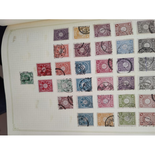 745 - JAPAN - a collection in album with others, various other stamps...