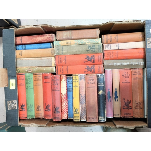 265 - A selection of P.G. Woodehouse hard backed books, mainly Herbert Jenkins publisher...