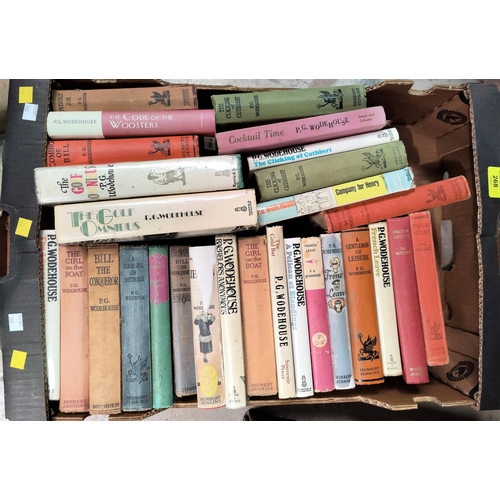 268 - A selection of P.G. Woodehouse hard backed books, mainly Herbert Jenkins publisher...