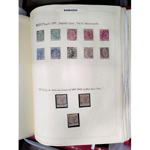 729 - BRITISH COMMONWEALTH - a collection of stamps QV to QEII in 11 Grafton loose-leaf albums