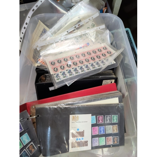744 - GB - QEII 5 albums of FDC's and mint commemorative stamp sets; part sheet of stamps...