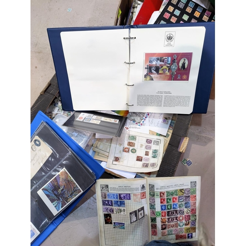 754 - A selection of loose stamps, first day covers etc...
