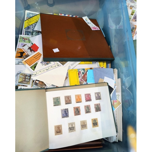 761 - A selection of stamps in albums and loose...