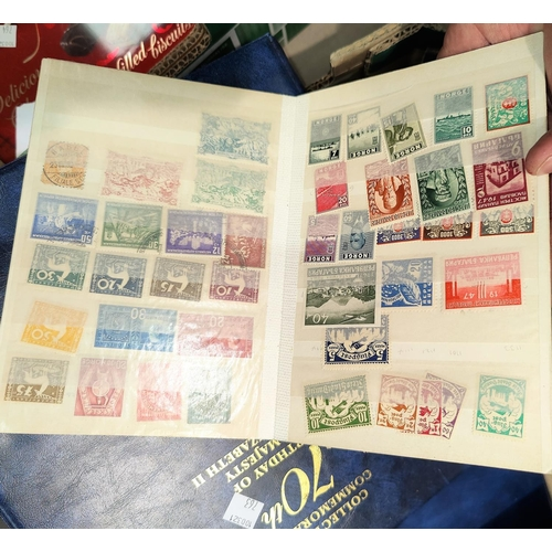 763 - A selection of stamps in albums and loose...