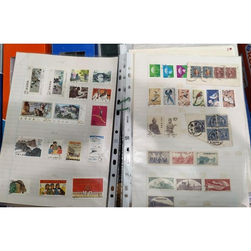 809 - A selection of Chinese stamps on sheets....