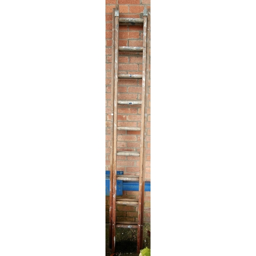 26 - A standard lamp; a folding chair; a pair of ladders (sold for decorative/display purposes only)