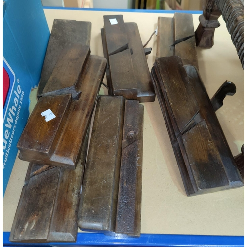 38 - A selection of old moulding and wood planes