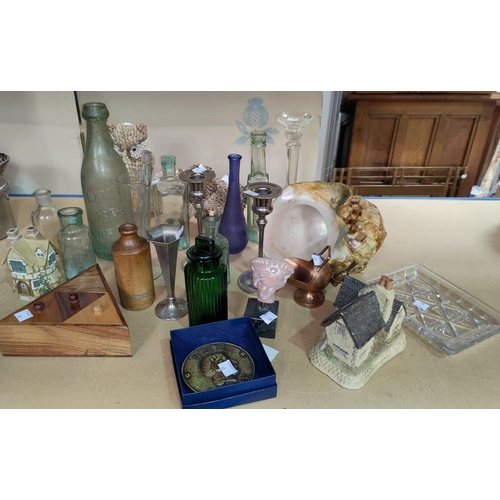 40 - A selection of old bottles and collectables