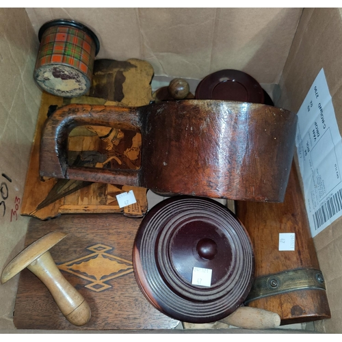 47 - A selection of darning mushrooms; boxes; other treen