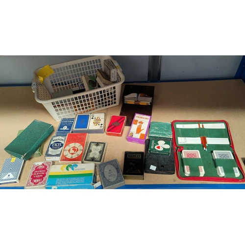 18 - A selection of boxed playing cards:  Palmistry;  I Ching; Wheel of Fortune; etc....