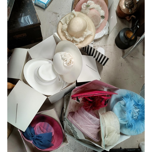 36A - A collection of various John Lewis and other wedding hats...