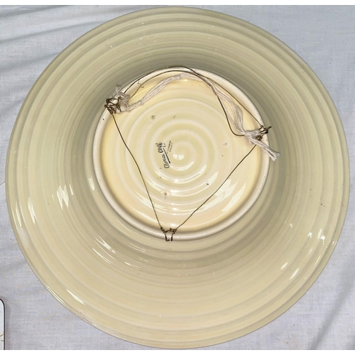 354 - A large shallow dish by Clarice Cliff for Wilkinson's, diameter 45 cm