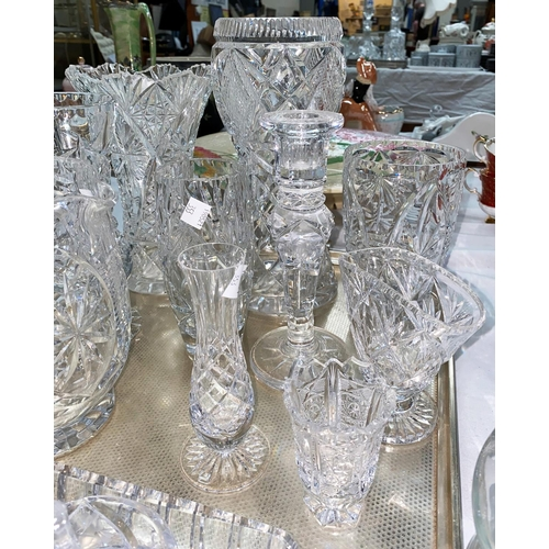 353 - A large selection of cut crystal glassware