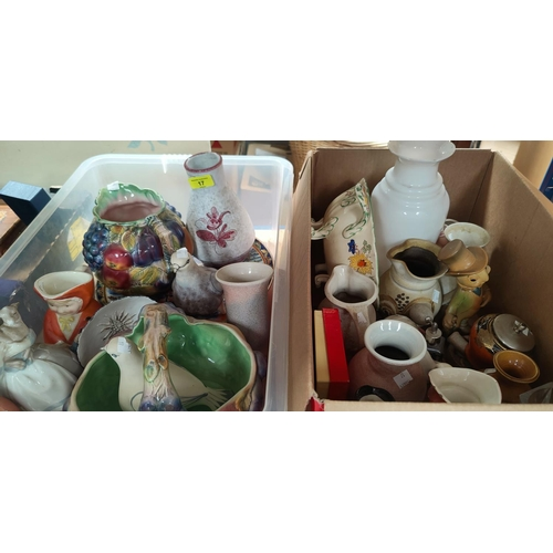 17 - A selection of decorative pottery...