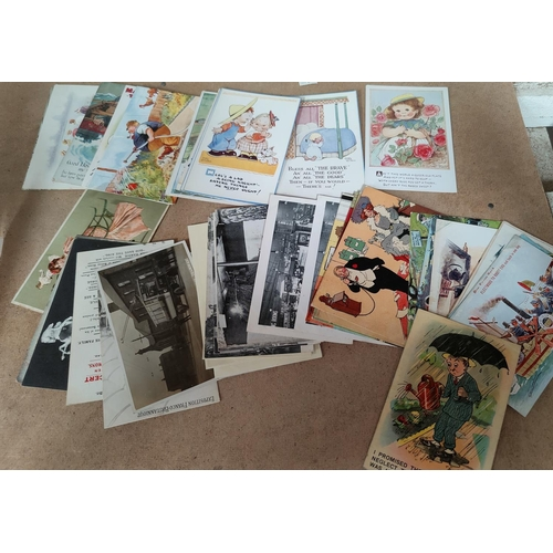 190 - A collection of vintage humorous cards by TOM B Cynicus etc...