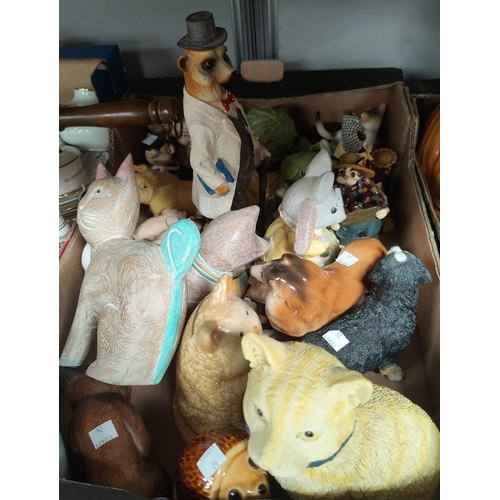 24 - A large selection of animal figures; etc....