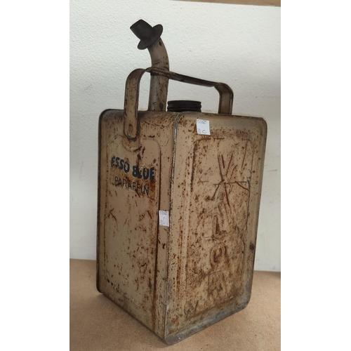30C - A vintage Esso Blue Paraffin square oil can...