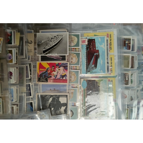190B - 110 assorted sheets of spare and part set cigarette cards including Players, Ogden etc...