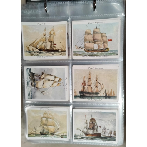 190H - A selection of large Wills and Players cigarette cards including Old Naval Prints etc...