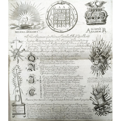 203 - Queen Anne 1710: A Short Encomium upon Her Most Excellent Majesty Queen Anne, with a further acrosti...