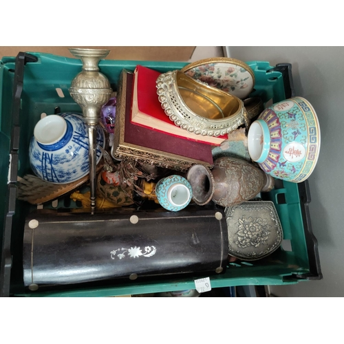 22D - A small selection of modern oriental metalware and ceramics...