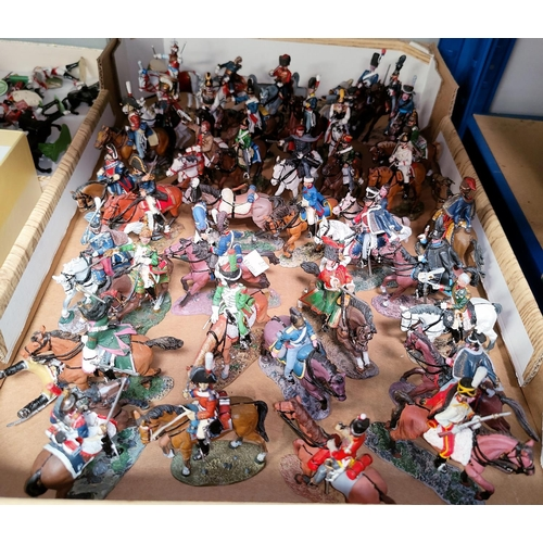 27 - A selection of hand painted cavalry figures by Dea for Cassandra, 40 approx...