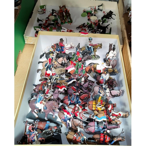 28 - A selection of hand painted cavalry figures by Dea for Cassandra, 28 approx; others similar...