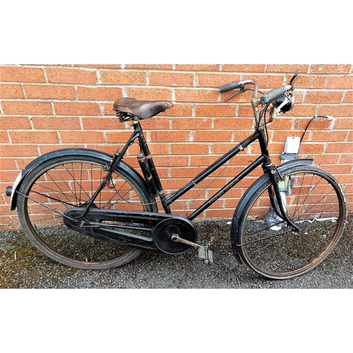 2A - A vintage Raleigh sports bike in black