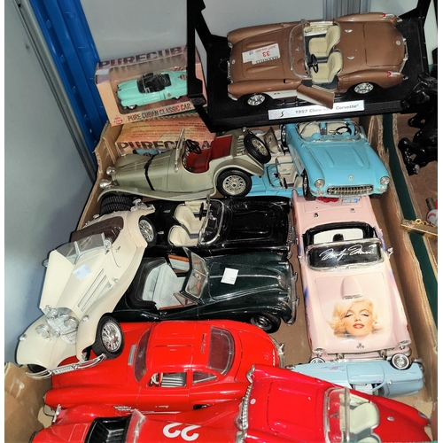 33 - A collection of vintage cars and other models...