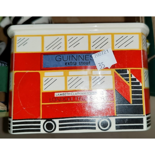 35 - A Guinness moneybox; other china collectables...