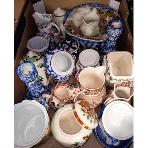 40 - A selection of blue & white and other decorative china...