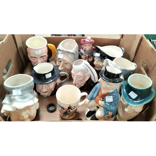 41 - A collection of toby jugs...