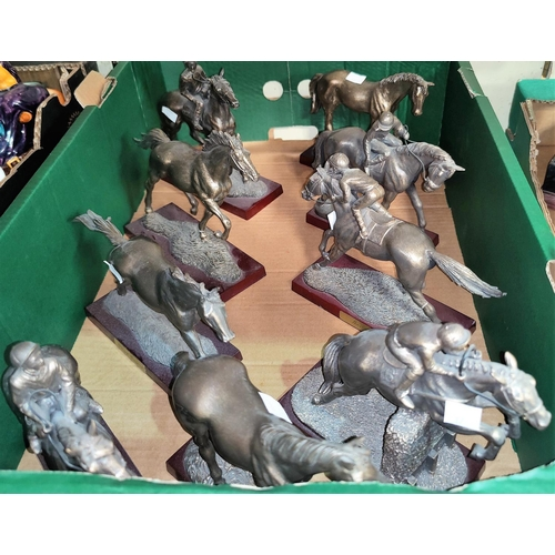 42 - A selection of figures of horses; etc....
