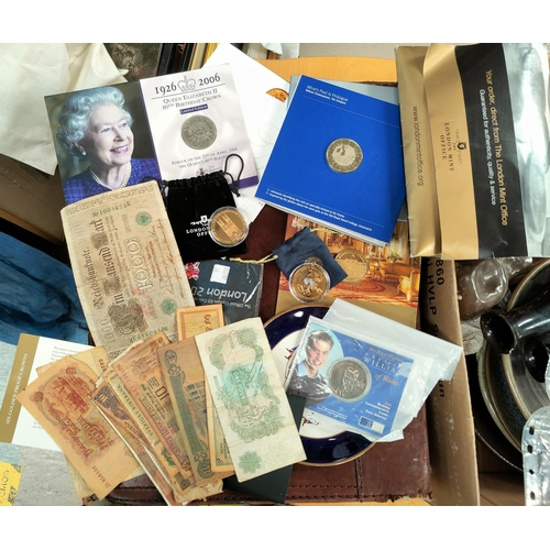 20 - A millennium £5 coin; a selection of commemorative coins...
