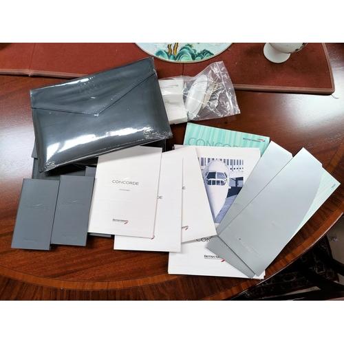 20A - A selection of 1998 Concorde menus, files, ephemera, sealed case etc...