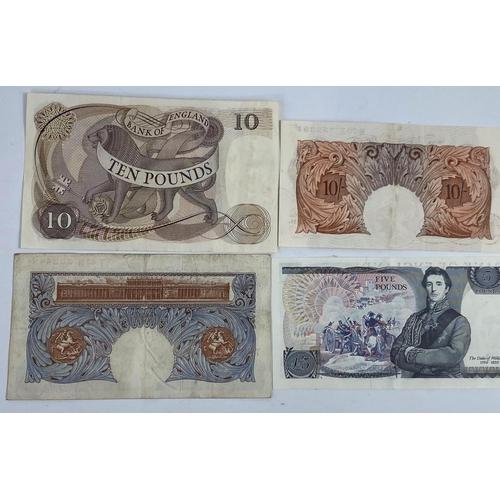 254 - GB: banknotes Page £10, Samuelson £5, Peppiatt £1, blue, O'BRien 10s