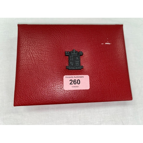 260 - GB: 1999 deluxe proof coin set, red case