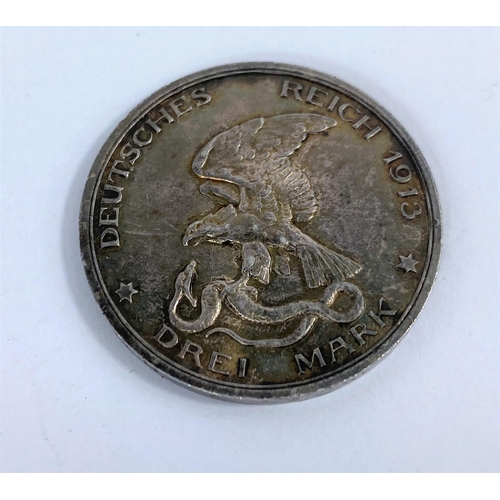 262 - Prussia: 3 marks 1913 (centenary of the defeat of Napolean)