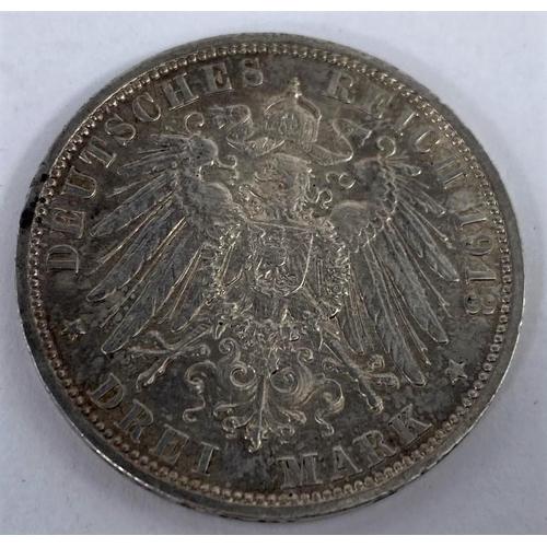 263 - Prussia: 3 marks 25th year Wilhelm