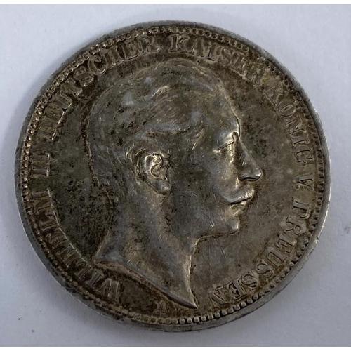 264 - Prussia: 3 marks 1912, Wilhelm