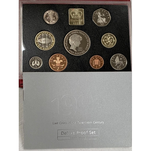 286 - GB; proof coin set 1999, red case