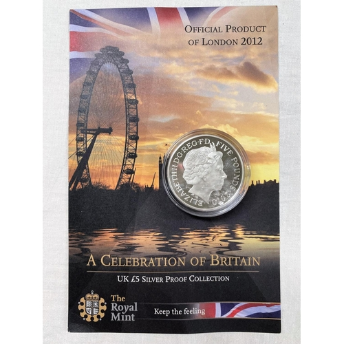 290 - GB: Olympics silver £5 2010,