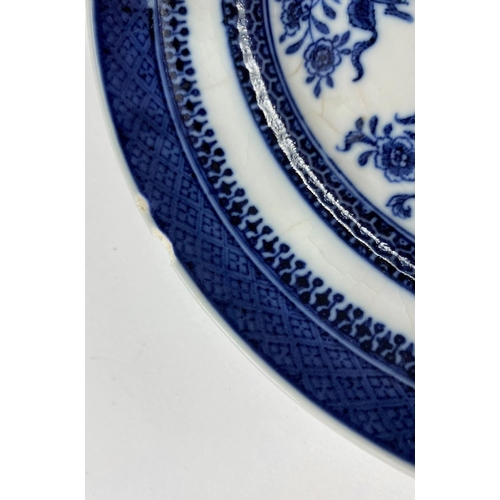 310 - 3 x 19th century Chinese plates with detailed blue and white decoration, d. 19.5cm (all with chips t...