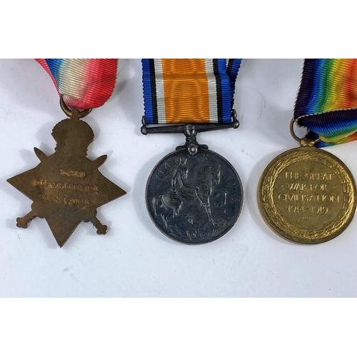 179G - A WWI trio set 3 - 2930 Pte J.H. Truelove Yorks and Lancs