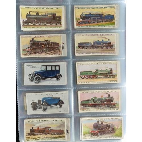 114 - An album of 32 sheets of part sets of cigarette cards, including Hignetts, Ogdens etc.